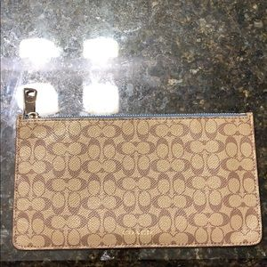 NWOT Coach Slim Zippered Pouch